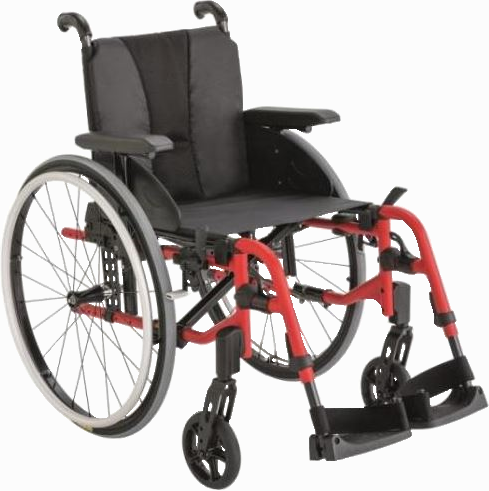 Fauteuil roulant avec dossier inclinable
